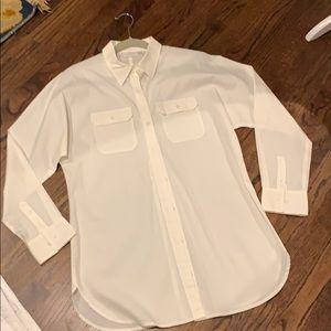 Chico's white cotton shirt top blouse 0